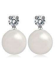 Women's Stud Earrings Jewelry Unique Design Fashion Euramerican Costume Jewelry Pearl Alloy Jewelry Jewelry For Wedding Birthday