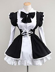 cheap -Sweet Lolita Dress Princess Women's Teen Girls' Maid Suits Cosplay Long Sleeves