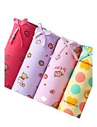 cheap -4 Pcs/Lot Women's Fashion Sexy Print Briefs Cotton Spandex Underwear