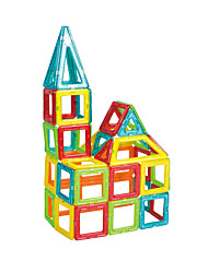 cheap -Building Blocks Magnetic Blocks Model Building Kit 30 pcs Magnetic Square Triangle Children's Boys' Gift