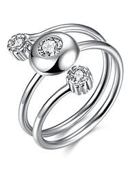 levne -Dámské Prsten Jedinečný design Stříbro Zirkon Šperky Narozeniny Obchod Dar Denní Kancelář a kariéra