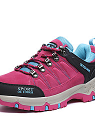cheap -Women's Athletic Shoes Comfort  Suede Spring Fall Athletic Outdoor clothing Flat Heel Fuchsia Gray Hiking Shoes