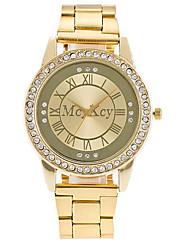 Per uomo Orologio elegante Orologio alla moda Cinese Quarzo Lega Banda Casual Di lusso classe Argento Oro Oro rosa