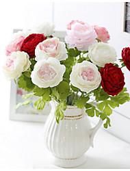 Недорогие -7clor 1 ветка шелковые пионы настольный цветок искусственный домашний декор цветы