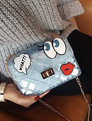 cheap -Women Bags PVC Crossbody Bag Appliques for Event/Party Casual Spring/Fall Summer White Blushing Pink Light Blue