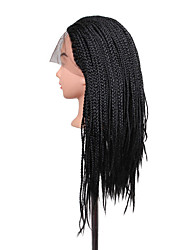 cheap -Women Synthetic Wig Lace Front Long Black African American Wig Braided Wig Natural Wigs Costume Wig