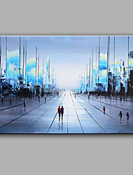 Modern Abstract Pure Hand Draw Ready To Hang Street View Oil Painting For Home Decoration