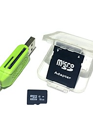 Недорогие -16gb микросхема tf карта памяти с 2 в 1 usb otg card reader micro usb otg
