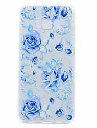 cheap -For Samsung Galaxy S8 Plus S8 Case Cover Translucent Pattern Back Cover Case Blue Rose Soft TPU for Samsung Galaxy S7 edge S7 S6 edge S6 S5 Mini S5