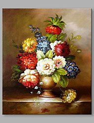 Hand-Painted Classical Beautiful Floral Modern One Panel Canvas Oil Painting For Home Decoration