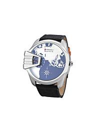 cheap -Men's Sport Watch Fashion Watch Wrist watch Casual Watch Chinese Quartz Calendar / date / day Dual Time Zones Large Dial Fabric Band