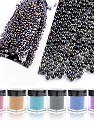 cheap -1PC Iridescence AB  Transparent  Glass Beads 10g  Bottled 6 Color