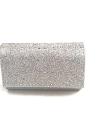 cheap -Women Bags PVC Satin Evening Bag Crystal Detailing for Event/Party All Season Silver Gold Blue