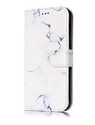abordables -Coque Pour Samsung Galaxy J7 (2016) J5 (2016) Porte Carte Portefeuille Avec Support Clapet Coque Intégrale Marbre Dur faux cuir pour J7