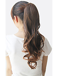 cheap -Curly Ponytails Bear Claw/Jaw Clip Synthetic Hair Piece Hair Extension 22 inch Natural Black Dark Brown