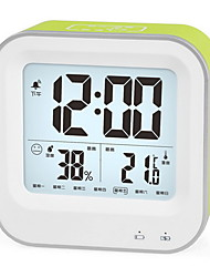 LED Rechargeable Alarm Clock Luminous Electronic Hygrometer