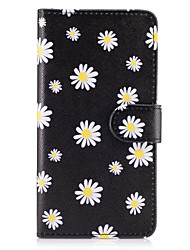 cheap -For Samsung Galaxy S8 Plus S7 Edge Case Cover The Small White Flowers Pattern PU Leather Cases for S6 Edge Plus S5 Mini S4 S3