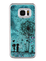 cheap -For Samsung Galaxy S8 Plus S8 Phone Case Dandelion Pattern Flowing Quicksand Liquid Glitter Plastic PC Materia S7 edge S7