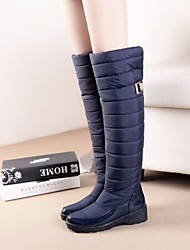 cheap -Women's Shoes Suede Winter Comfort Boots for Casual Black Blue