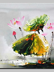cheap -Hand Painted Flower Oil Painting On Canvas Modern Art Wall Picture For Home Decoration Ready To Hang