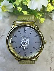 levne -Pánské Křemenný Náramkové hodinky Hodinky na běžné nošení Slitina Kapela Na běžné nošení Elegantní Módní Zlatá