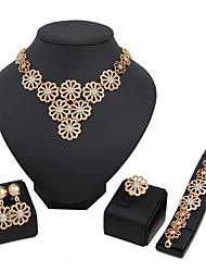 Women's Jewelry Set Necklace/Bracelet Bridal Jewelry Sets Rhinestone Euramerican Fashion Classic Gold Rhinestones Alloy Circle 147Wedding