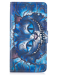 cheap -For Samsung Galaxy A3(2017) A5(2017) Case Cover The Blue Cat Pattern PU Leather Cases for A5(2016) A3(2016) A5 A3