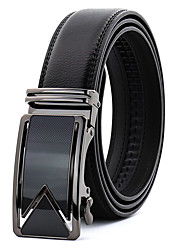 cheap -Men's Work Wedding Belt Leather Alloy Waist Belt - Solid Colored