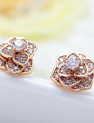 cheap -Women's Stud Earrings Jewelry Unique Design Fashion Euramerican Costume Jewelry Zircon Alloy Jewelry Jewelry For Wedding Birthday
