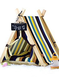 Dog Bed Pet Mats & Pads Stripe Portable Tent Stripe