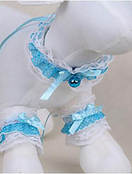 cheap -Dog Tuxedo Tie/Bow Tie Dog Clothes Cute Casual/Daily Fashion Lace Light Blue Costume For Pets
