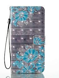 preiswerte -Für iPhone 8 iPhone 8 Plus Hüllen Cover Kreditkartenfächer Geldbeutel mit Halterung Flipbare Hülle Muster Handyhülle für das ganze Handy