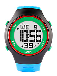 EZON Fashion Watches Ultra-thin Mens Women Sports Waterproof Digital Stopwatch Date Alarm Rubber Sport Wrist Watch