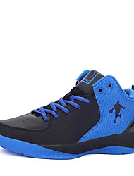 cheap -Basketball Shoes Men's Athletic Shoes Comfort PU Spring Fall Outdoor  Lace-up Flat Heel Black/Blue Black/White Black/Red Under 1in