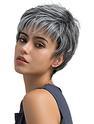 cheap -Synthetic Wig Straight Brown Women's Capless Natural Wigs Short Synthetic Hair