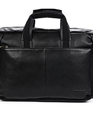 Men Bags All Seasons Cowhide Tote Smooth for Business Casual Formal School Date Work Office & Career Black Dark Brown