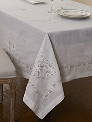 cheap -Big Size Embroidery Linen Tablecloths Square Table Cloth 175x175cm