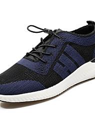Homme Chaussures d'Athlétisme Tulle Printemps Automne Marche Combinaison Talon Plat Noir Argent Bleu marine 5 à 7 cm