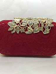 Bags PU Evening Bag with for Gold White Black Red