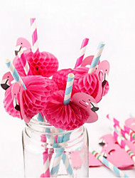 cheap -10Pcs /Lot Flamingo Decoration Paper Drinking Straws Party Straws
