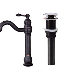 cheap -Centerset Ceramic Valve One Hole Oil-rubbed Bronze, Faucet Set