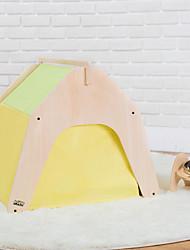 Cat Dog Bed Pet Mats & Pads Patchwork Portable Foldable Tent