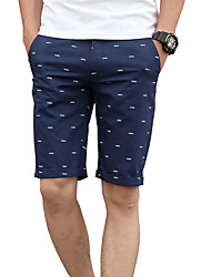 Men's Low Rise Micro-elastic Chinos Shorts Pants,Street chic Active Cute Simple Slim Pure Color Polka Dots Check Pattern Solid Polka Dot