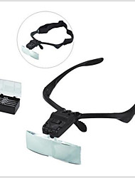 cheap -5 Lens Headset Magnifier Magnifying Glass Eyelash Extension LED & Hands Free--1 pcs