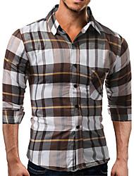 billige Nyheter-Bomull Skjorte - Fargeblokk Herre