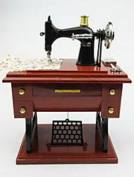 Polyresin Retro Sewing Machine Shape Music Box Decorative Accessories