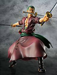 Las figuras de acción del anime Inspirado por One Piece Roronoa Zoro 23 CM Juegos de construcción muñeca de juguete