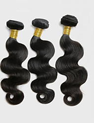 3Pcs/150g 8-26inch Peruvian Virgin Body Wave Hair Natural Black Human Hair Weave Bundles.