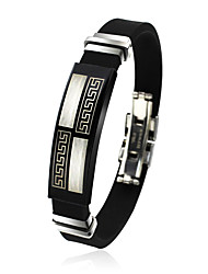 cheap -Men's ID Bracelet - Titanium Steel Friends Rock, Fashion, Hip-Hop Bracelet Black For Christmas Gifts / Birthday / Gift