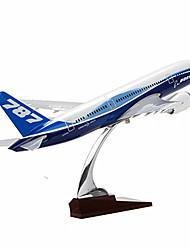 abordables -Kit de Maquette Véhicules à Friction Arrière Avion Jouets Articles d'ameublement Simulation Avion Automatique Alliage de métal Pièces